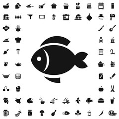 Fish icon illustration