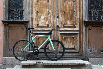New bike parked on doorstep