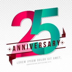 Anniversary emblems template design