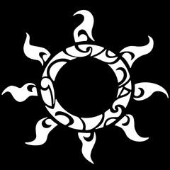 татуировка солнце полинезия