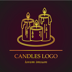 Logo with golden candles