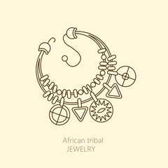 Logo with national African necklace.