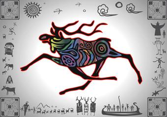 Kokopelli Glow Elk