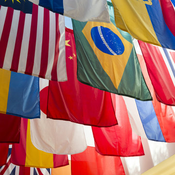 National flags of the countries at Southern Methodist University