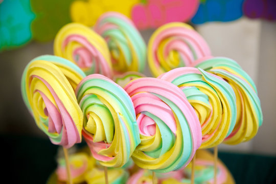 Colorful sweet merengue