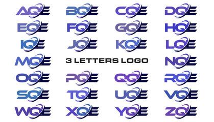 3 letters modern generic swoosh logo AQE, BQE, CQE, DQE, EQE, FQE, GQE, HQE, IQE, JQE, KQE, LQE, MQE, NQE, OQE, PQE, QQE, RQE, SQE, TQE, UQE, VQE, WQE, XQE, YQE, ZQE