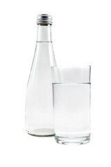 Bottle and Glass water