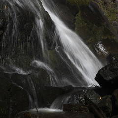 A waterfall at Taktsang Monastery in Bhutan.