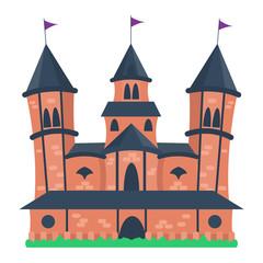 Castle cartoon vector illustration