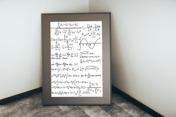 Picture frame with mathematical formulas
