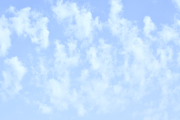 Sky with vertical clouds