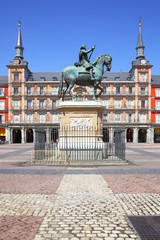 Wall Mural - Plaza Mayor (Main Square) in Madrid