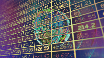 Conceptual Display of Stock market