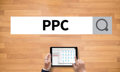 PPC - Pay Per Click concept