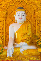 Buddha white mable statue in Myanmar style