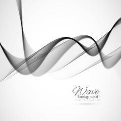 Abstract elegant grey wave background design