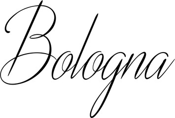 Bologna text Sign