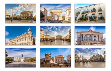 Carte postale de Montpellier en Languedoc, Occitanie en France