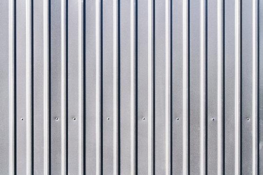 corrugated grey fence steel siding background