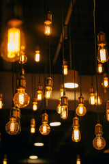 beautiful lighting decor bulb Industrial vintage style.