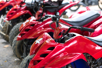 ATV Quad bike close up