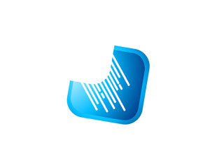 Abstract Digital Connection Logo Icon
