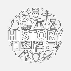 History linear illustration