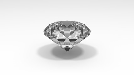 Diamond isolated on white background. 3d rendering.