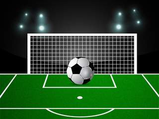 Illustration of soccer game background