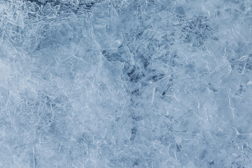 Blue ice texture, abstract background
