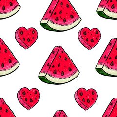 slices of ripe watermelon