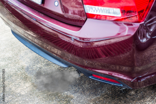 Exhaust Coming Out Of A Car ~ Quot combustion fumes coming out of car exhaust pipe stock