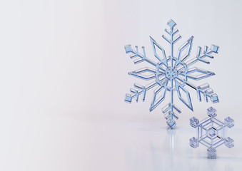 Snowflakes. snow crystal. background.