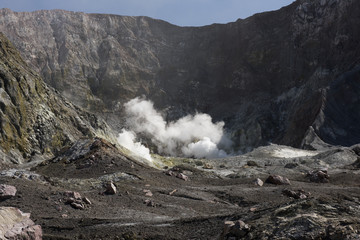 White Island main crater before September 2016 eruption