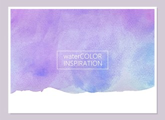 Abstract violet and blue watercolor texture. Universal card, invitation, flyer design. Place for text.