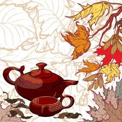 Tea ceremony invitation template