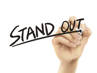 Stand out written by hand