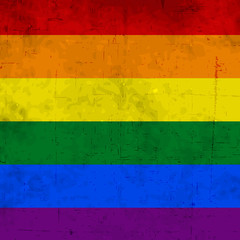 LGBT background with rainbow color flag