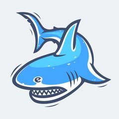 Shark sea life vector illustration