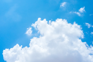 Looking up at Nice blue sky and cloudy,Nature background