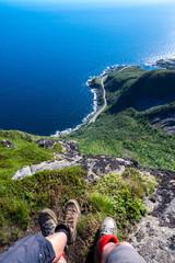 Wandern auf den Hausberg von Reine auf den Lofoten - Reinebriggen