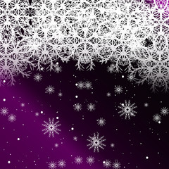 purple color background with snowflakes for Christmas cards. vector illustration.