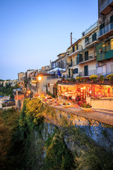 City life in Castel Gandolfo, pope's summer residency, Italy