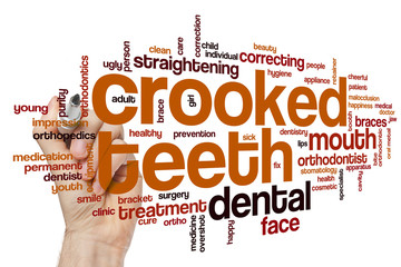 Crooked teeth word cloud