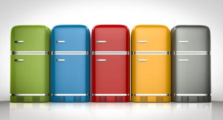 fridges in a row