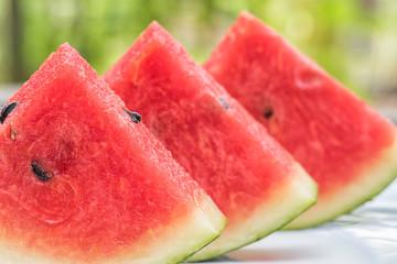 Closeup Watermelon slice
