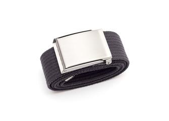 Men's grey belt isolated on white background