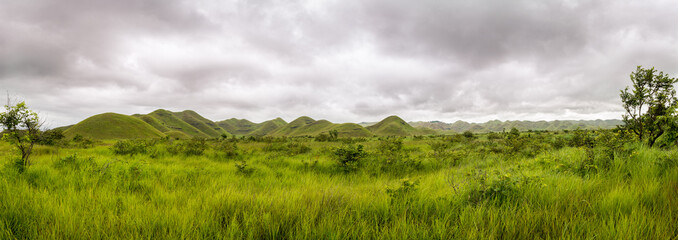Canvas Prints Hill Panorama of african hills in Congo, Mountain of the Moon.