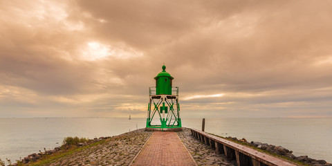Dutch lighthouse in the province of Frisia
