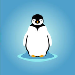 young penguin vector illustration